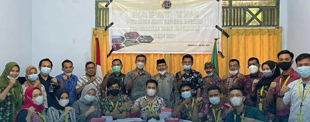Kantah Donggala Rapatkan Akses Reforma Agraria